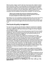 Eseja 'The Future of Quality Management', 3.