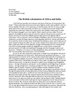 Eseja 'The British Colonization of Africa and India', 1.