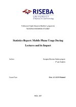 Referāts 'Statistics Report: Mobile Phone Usage During Lectures and Its Impact', 1.