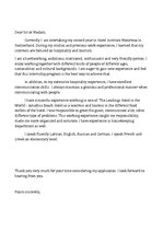 Paraugs 'Cover Letter/Motivational Letter', 1.