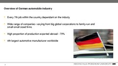 Referāts 'Automotive Industry in Germany and Baden-Württemberg Region', 28.