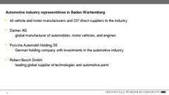 Referāts 'Automotive Industry in Germany and Baden-Württemberg Region', 32.