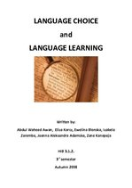 Referāts 'Language Choice and Language Learning', 1.
