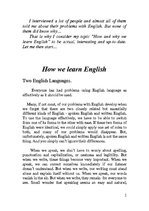 Referāts 'How We Learn English. Two English Languages', 1.