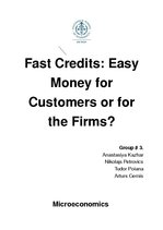 Referāts 'Fast Credits: Easy Money for Customers or for the Firms?', 1.