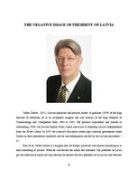 Referāts 'The Negative Image of the President of Latvia', 6.