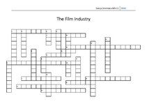 Konspekts 'The Film Industry. Crossword', 4.
