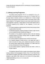 Konspekts 'Educational Policies in EU and Lifelong Learning Program 2007-2013', 4.