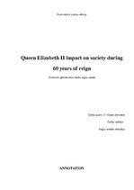 Referāts 'Queen Elizabeth II Impact on Society During 