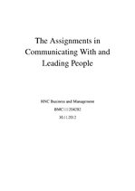 Referāts 'Communicating With and Leading People', 1.