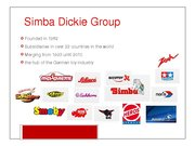 Referāts 'Analysis of Simba Dickie Group Enterprise', 11.