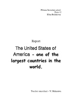 Referāts 'The United States of America - one of the Largest Countries in the World', 1.