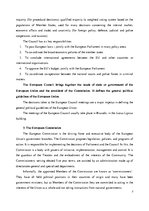 Konspekts 'Institutions of EU. Legislation and Decision making process', 3.