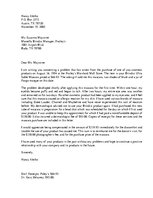 Paraugs 'Business Complaint and Response Letter', 3.