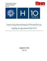 Referāts 'Improving Existing Loyalty Programme in H10 Hotel Chain', 1.