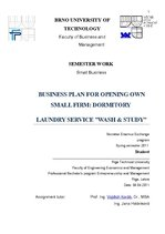 "Biznesa plāns 'Business Plan for Opening Own Small Firm: Dormitory Laundry Service ""Wash & Stud', 1."