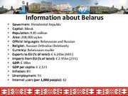 Prezentācija 'The Republic of Belarus and the European Union Partnership', 2.