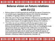 Prezentācija 'The Republic of Belarus and the European Union Partnership', 7.