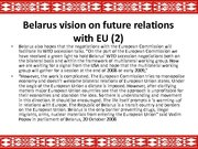 Prezentācija 'The Republic of Belarus and the European Union Partnership', 8.