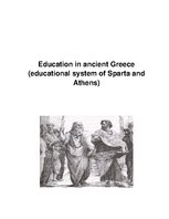 Eseja 'Education in Ancient Greece ', 1.