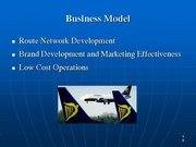 Prezentācija 'Ryanair Cost Leadership Position and Bussiness Strategy', 8.