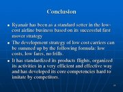 Prezentācija 'Ryanair Cost Leadership Position and Bussiness Strategy', 15.