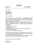 Paraugs 'Cover Letter', 1.