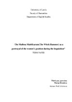 Referāts 'The Malleus Maleficarum (The Witch Hammer) as a Portrayal of the Women's Positio', 1.