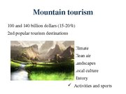 Referāts 'The Possibility of Sustainable Tourism Development in Mountain Tourism', 9.