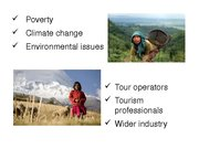 Referāts 'The Possibility of Sustainable Tourism Development in Mountain Tourism', 10.