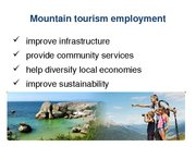 Referāts 'The Possibility of Sustainable Tourism Development in Mountain Tourism', 14.