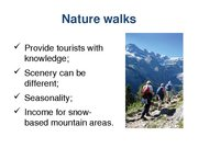 Referāts 'The Possibility of Sustainable Tourism Development in Mountain Tourism', 15.