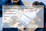 Referāts 'Public Relations in Tourism Marketing', 14.