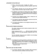 Paraugs 'Contract about Electrical Installation Works', 2.